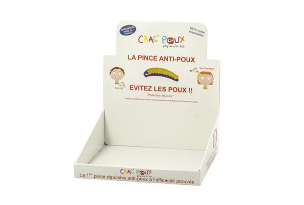 Presentoir redoublé Crac Poux